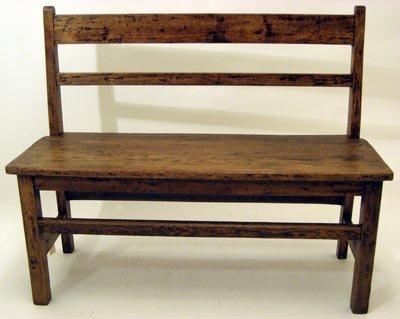 Children's Primitive Bench - Antique