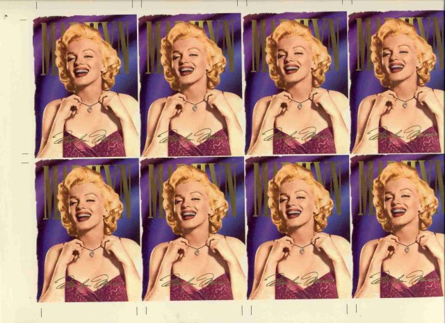 Marilyn Monroe Sign Trading Proof Glossy