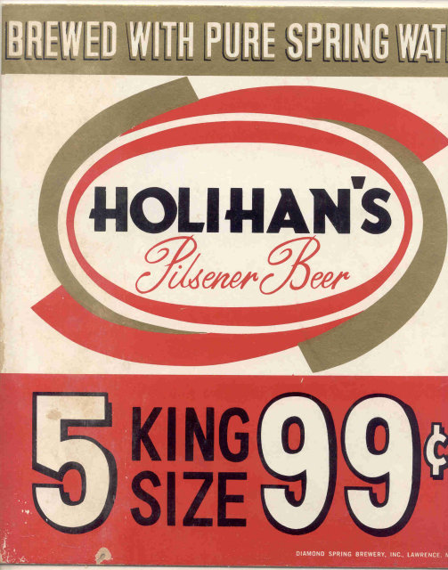 Holihan's Pilsener Beer Sign