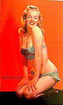 Marilyn Monroe Postcard Unused