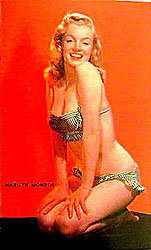 Marilyn Monroe Postcard Unused