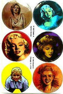 Marilyn Monroe Stickers 1983