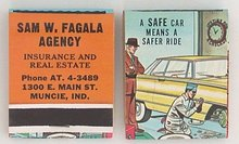 Safe Car Automobile Matchbooks