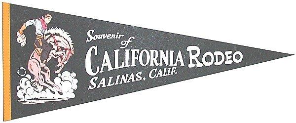 Rodeo Felt Pennants California 1970s