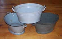 Antique Wash Tub Basin Enamel Finish