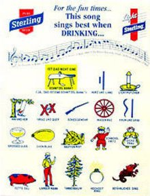 Sterling Beer Song Sheets