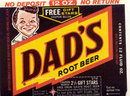 Dad's Root Beer Soda Bottle Label 1960s