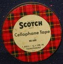 Scotch Tape Plaid Tin 1940s