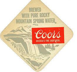 Coors Beer Coasters 1970s