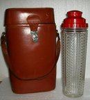 Medco Shaker Decanter in Leather Case