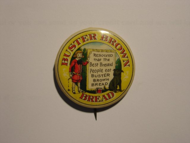 Buster Brown Pinback Pin 1910s