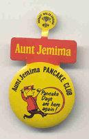 Aunt Jemima Pancake Club Lapel Pin Tab