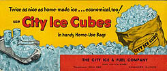 City Ice Cubes Blotter Sign