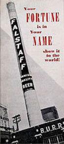 Falstaff Beer Pamphlet
