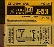 Akron OH Ice Coupon Booklets 1920s