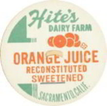 Hite's Dairy Farm Orange Juice Pog