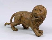 Lion Sculpture Statue - Cast Iron