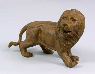 Lion Sculpture Statue - Cast Iron