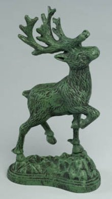 Cast Iron Deer Statue Sculptures