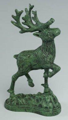 Cast Iron Deer Statue Sculptures