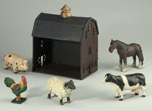 Cast Iron Barn Animals Set