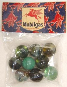 Mobil Gas Marbles 1940s Toy
