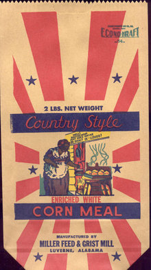 Mammy Corn Meal Bag 1920