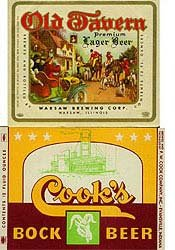 Cook's Beer Labels - Old Tavern