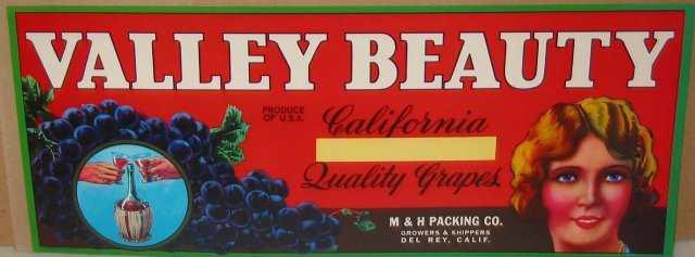Valley Beauty Crate Label