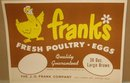 Franks Poultry Egg Label