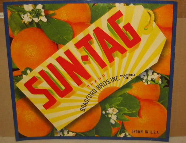 Sun-Tag Citrus Crate Label