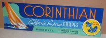 Corinthian Grape Crate Label