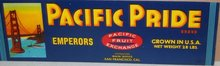 Pacific Pride Grape Fruit Crate Label