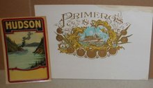 Primeros Cigar Label w Ship Broom Label