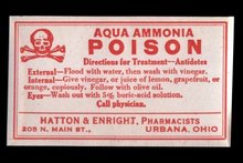 Ammonia Poison Labels