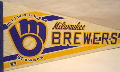 Milwaukee Brewers Pennant Baseball