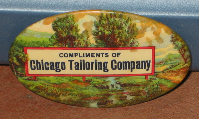 Chicago Tailoring Celluloid Mirror