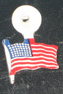 American Flag Tin Tag