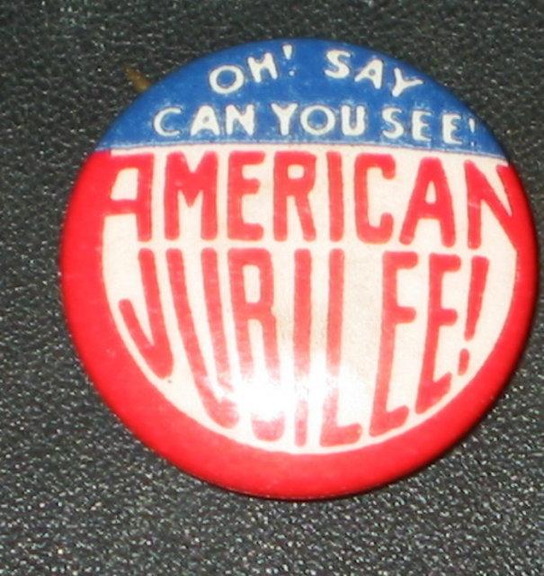 American Jubilee Pinback Pin 1940s