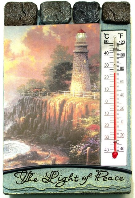 Thomas Kinkaide Light of Peace Thermometer