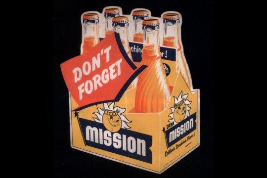 Mission Soda Bottle Label