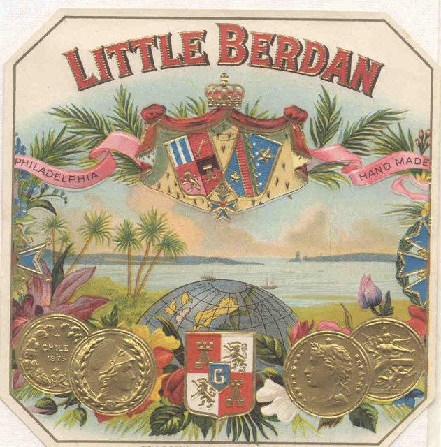 Little Berdan Cigar Label