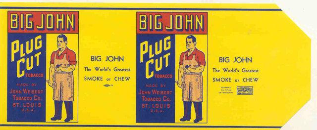 Big John Cigar Plug Label