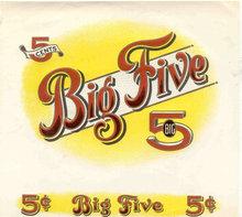 Big Five Cigar Label