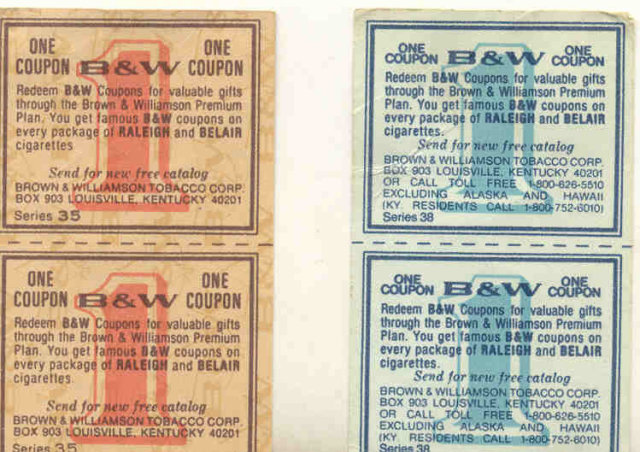 B&W Cigarette Coupons