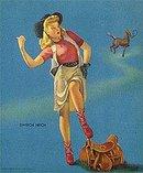 Cowgirl Pinup Elvgren Print