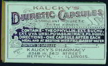 Kaucky's Diuretic Laxative Medicine Box