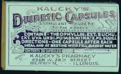 Kaucky's Diuretic Laxative Medicine Box
