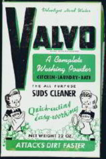 Valvo Dish Powder Full Box 1940s