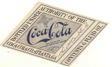 Coca-Cola Soda Diamond Label